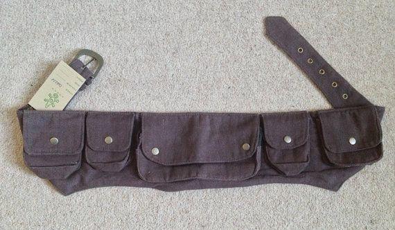 CANVAS pocket utility belt psytrance FANNY PACK hip by Gekkoonline, £24.00