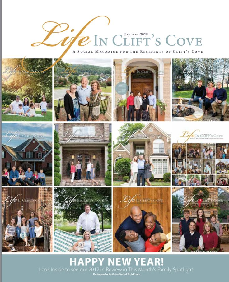Happy New Year! Meet all the families from 2017 in the January 2018 issue of Life in Clift's Cove!   We appreciate Well Blended Nutrition for Sponsoring the Family Spotlight Pages. Family Spotlight photography by SighPhoto 256-777-8659