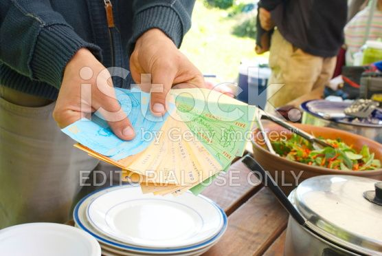 HANDS (How About a Non Dollar System) Money royalty-free stock photo