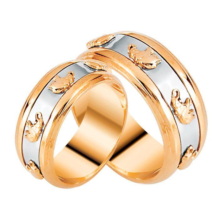 Кольцо со слонами розовое золото