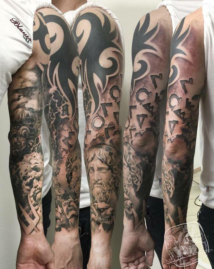 Zeus Poseidone ade tattoo