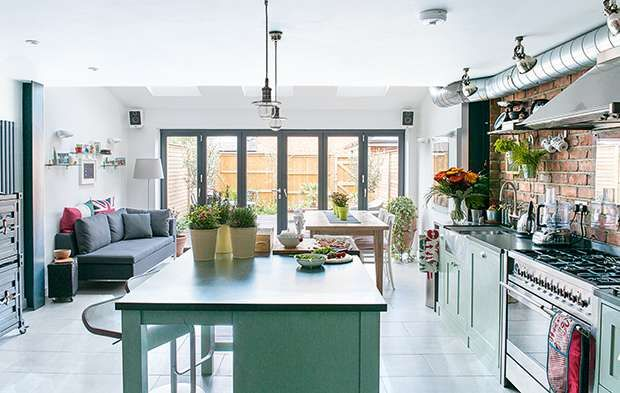 New york loft style kitchen extension