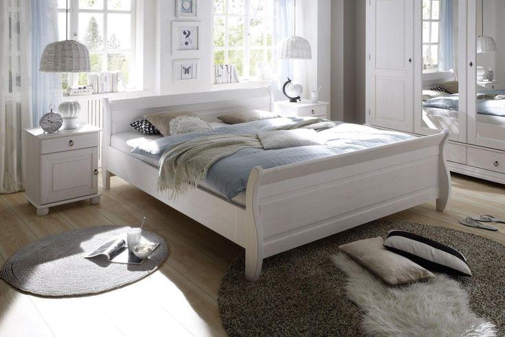 Oslo von POL Power - Bett Landhausstil weiß 180 x 200 cm