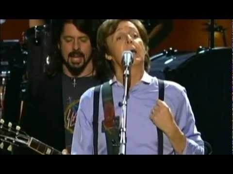 "Sir Paul McCartney performing the medley from side B of The Beatles' ""Abbey Road"" album on the 54th Grammys, 2012 - a classy and classic performance!"