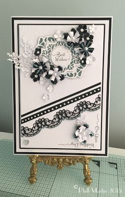 Black & White Best Wishes - with a new Scribbled Corner Stamp too!