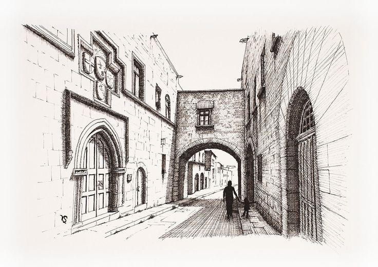 Old street by InkingArt.deviantart.com on @DeviantArt