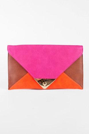 Envelope Clutch in Fuchsia $32 at www.tobi.com