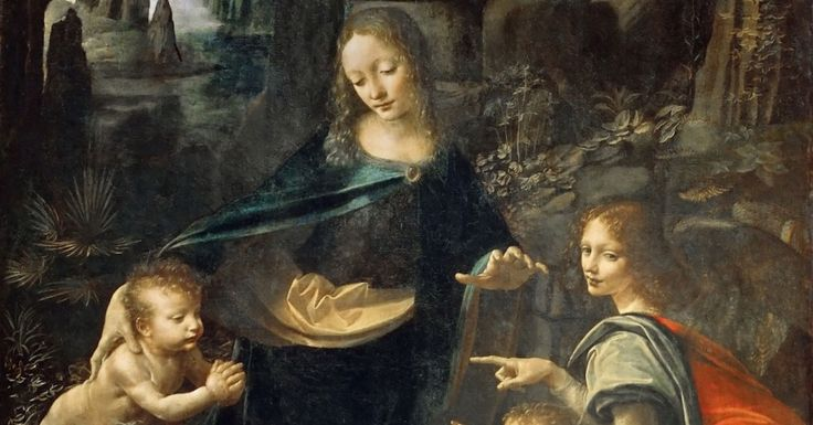 Dog found behind Leonardo's Virgin of the Rocks