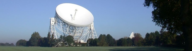 The Lovell Telescope - Jodrell Bank, Cheshire. A big fuck off telescope in the middle of no-where.