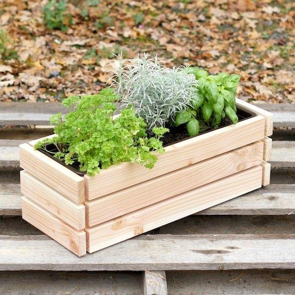 Kräuterbeet Blumenkasten Heimisches Holz Douglasie, versandkostenfrei