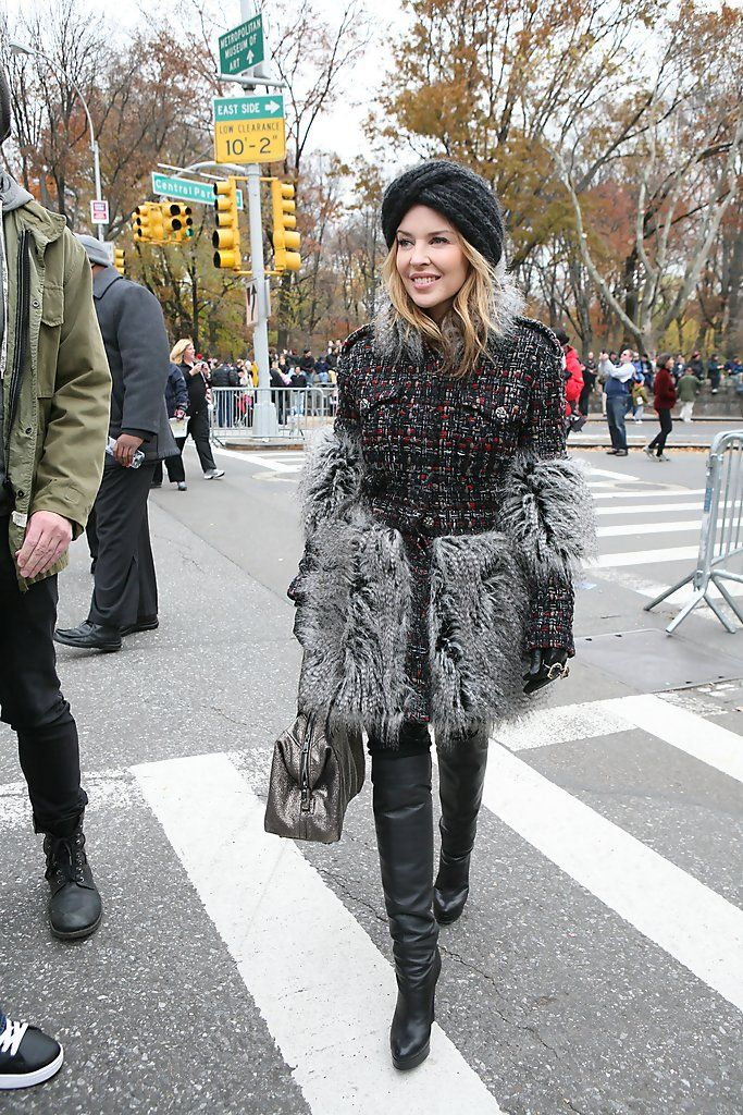 : Kylie Minogue at the 84th annual Macy's Thanksgiving Day Parade  in New York City. #Australia #celebrities #KylieMinogue Australian celebrity Kylie Minogue loves http://www.kangadiscounts.com