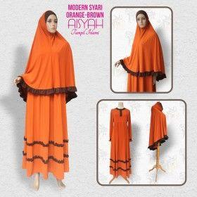 Busana Muslim - Modern Syari Orange