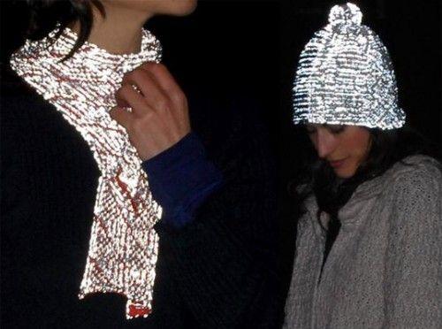 reflective scarves, hoods