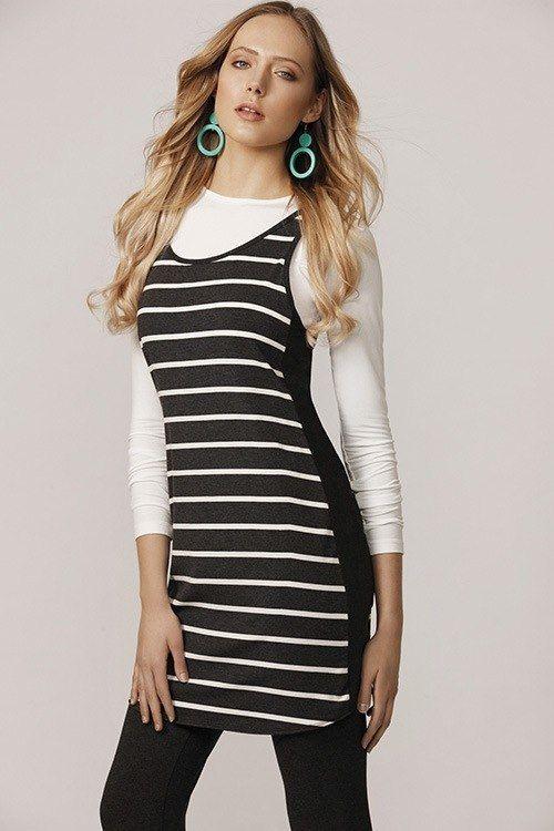 #white #winterfashion #stripes #dress #ecofashion #australia