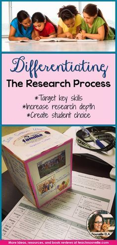 Differentiating the Research Process: Here are some ideas to get you started with differentiated research projects in ELA. Create engaging and accessible projects for all students. (Blog post)