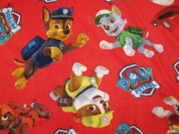 Hey, I found this really awesome Etsy listing at https://www.etsy.com/listing/211170249/paw-patrol-fleece-fabric-bty-rare-vhtf