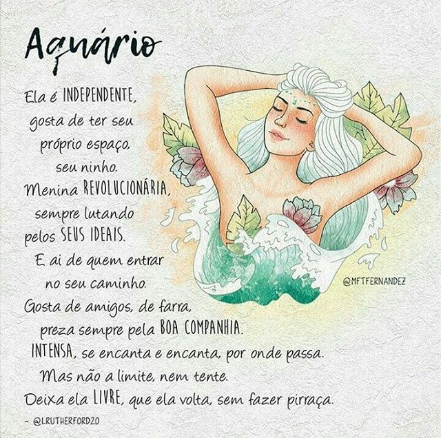 Ela é de aquário... ♒  @mftfernandez #aquário #signoilustrado