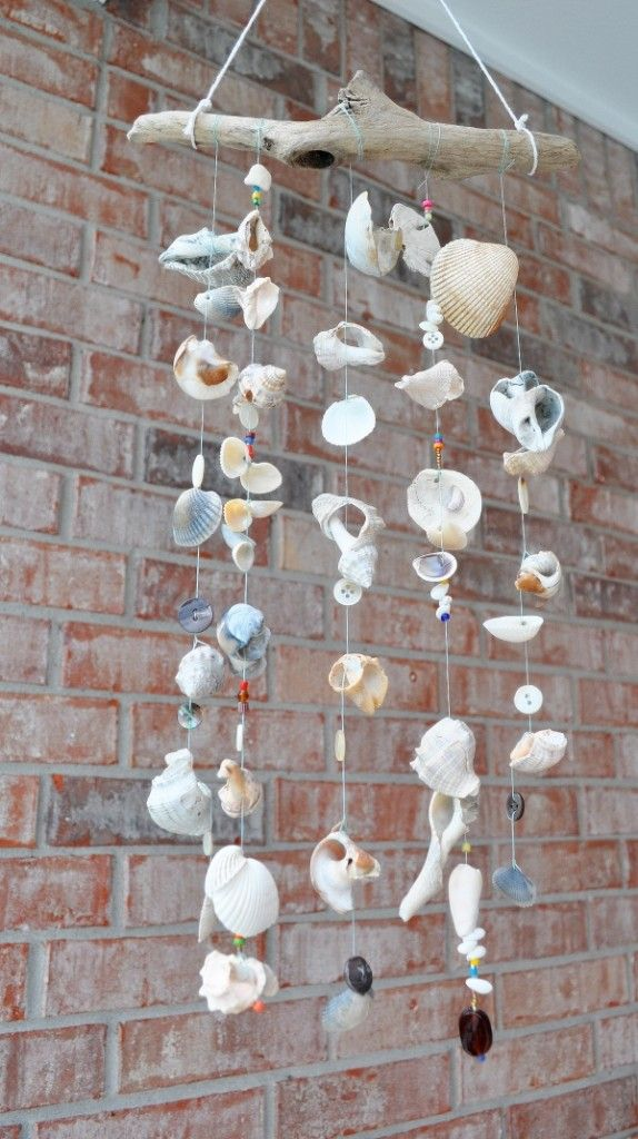 Homemade wind chimes.