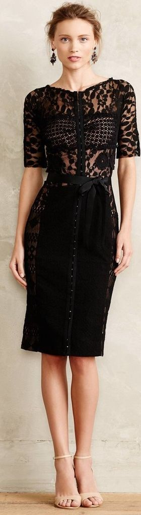 Black dresses that are anything but a basic LBD: Byron Lars Carissima Sheath ($258)