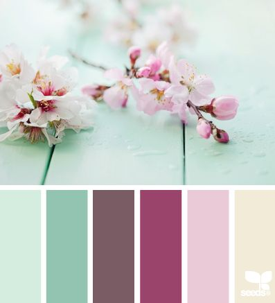 blossoming cherry tree was the color palette idea for master bedroom, this is pretty damn close.