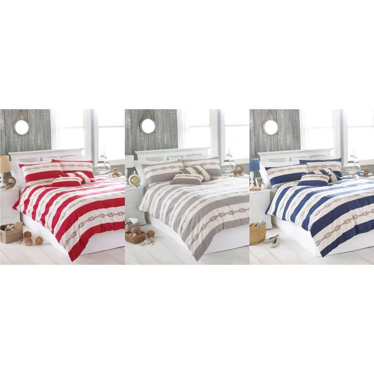Reef Nautical Duvet Cover & Accessories - Available in 3 Colours