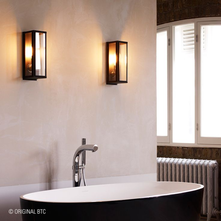 If you're after a romantic and unique bathroom ambience, have a closer look at #DaveyLighting's Box Wall Light. #originalbtc #WallLights