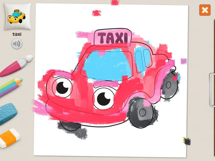 """taxi"" #coloring #pages #memollow - #app for #kids"