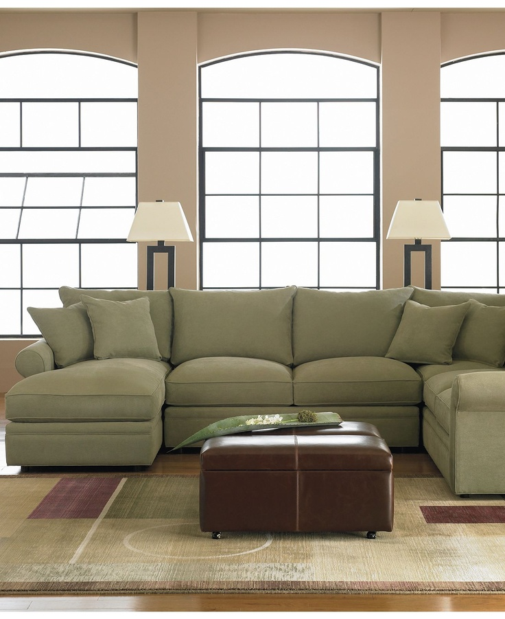 Doss fabric microfiber sectional sofa 4 piece left arm for Microfiber sectional sofa