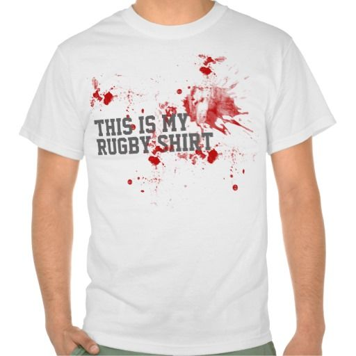 Rugby Blood Tees funny humorous sport tee from #Ricaso