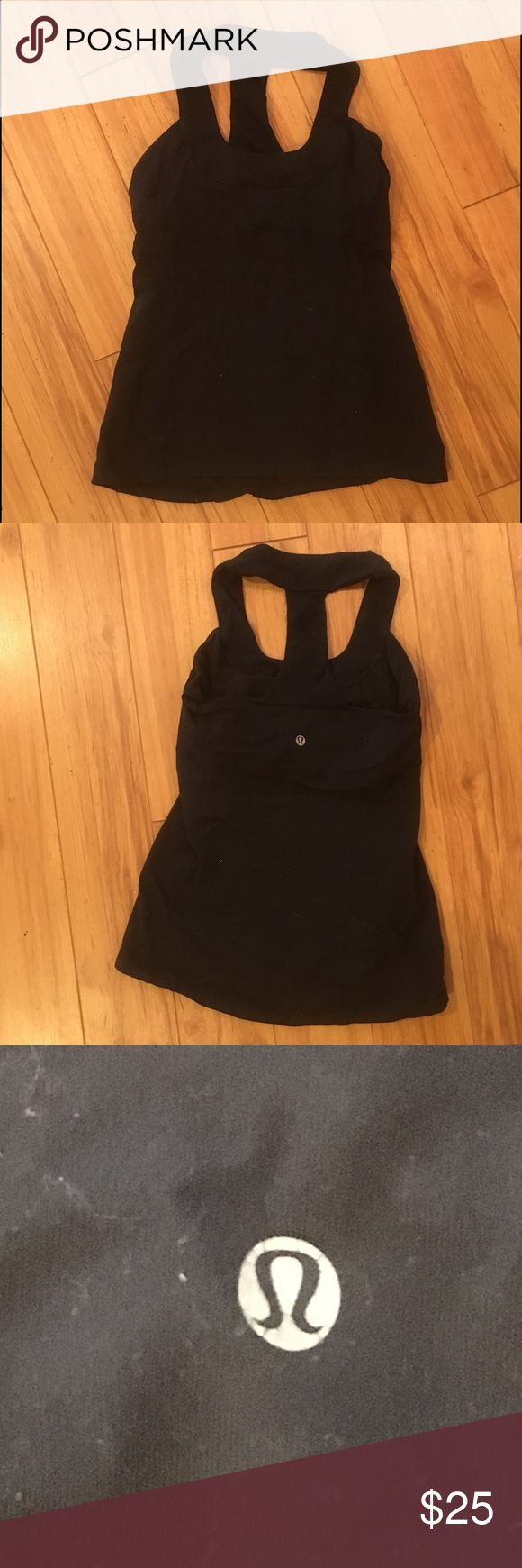 Lululemon Top - Size 6 Black Lulu top. No rips or stains. lululemon athletica Tops Tank Tops