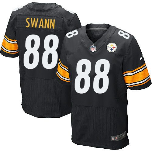 Lynn Swann Men's Elite Black Jersey: Nike NFL Pittsburgh Steelers Home #88