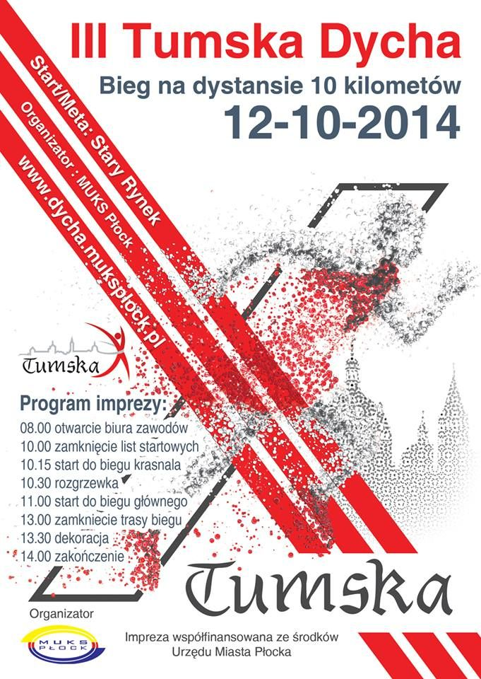 W najbliższą niedzielę 10.12.2014r odbędzie się trzecia edycja Tumskiej Dychy . O godz. 10:15 startuje Bieg Krasnala (po ubiegłorocznym sukcesie frekwencyjnym biegu dla najmłodszych w tym roku przy...