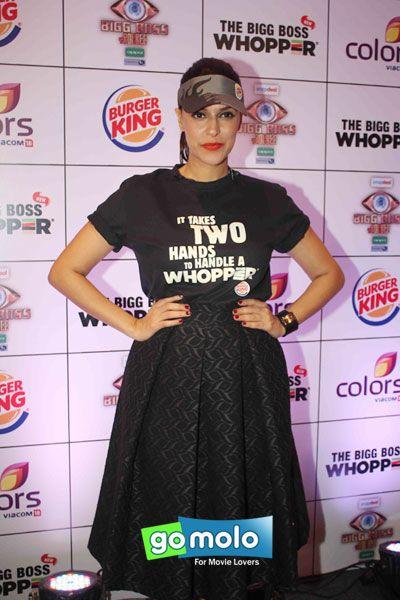 Neha Dhupia at the Launch of Burger King's 'Bigg Boss Whopper' in Andheri, Mumbai