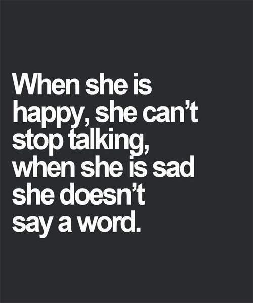 She Can't Stop Talking - Lovely Quote. Check out that cool T-Shirt here:  https://www.sunfrog.com/together-forever-Black-Guys.html?53507