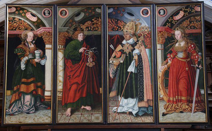 """St. Mary altarpiece, 2nd view, Halle (Saale), Marktkirche Unser Lieben Frauen (""""Market Church of Our Dear Lady""""), wikipedia"""