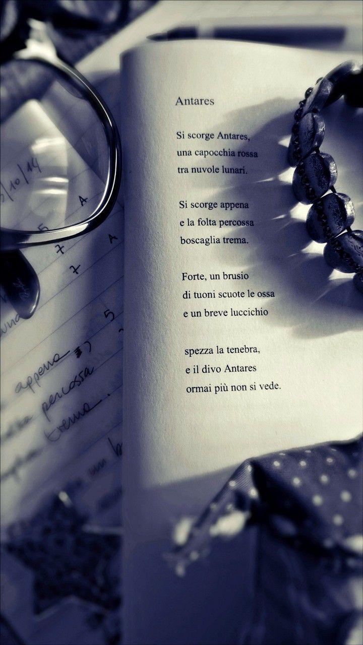 """""""Si scorge appena / e la folta percossa / boscaglia trema."""" cit. Antares #ilmioesordio #poesia @ilmiolibro"""