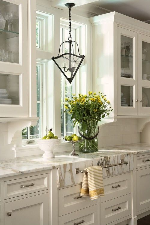White on white kitchen cabinets