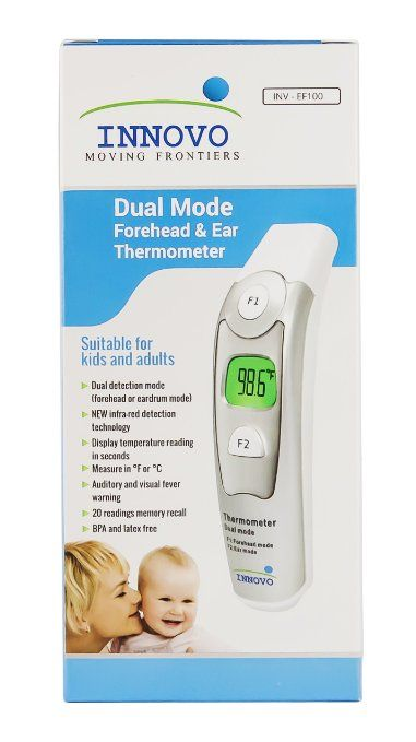 2016 Model - Upgraded Innovo Forehead and Ear Thermometer (Dual Mode) - CE and FDA cleared : Health & Personal CarePrice:	$35.99 & FREE Shipping on orders over $49