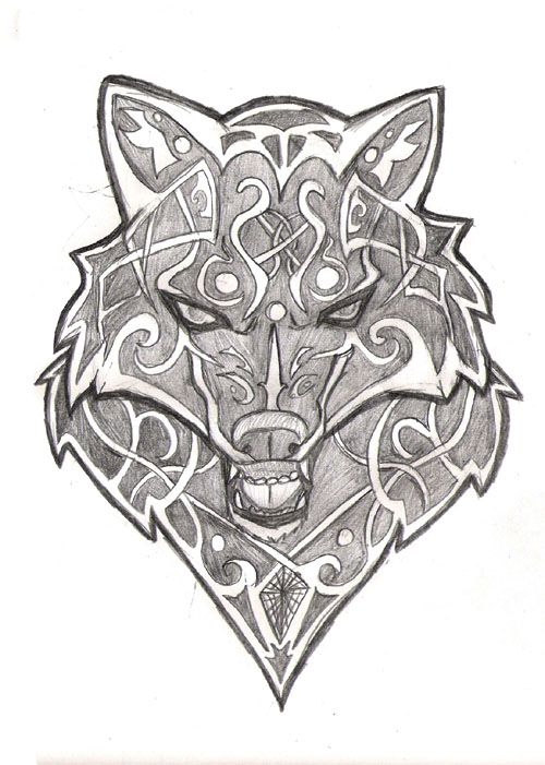 63 best wolves images on Pinterest | Celtic tattoos ...