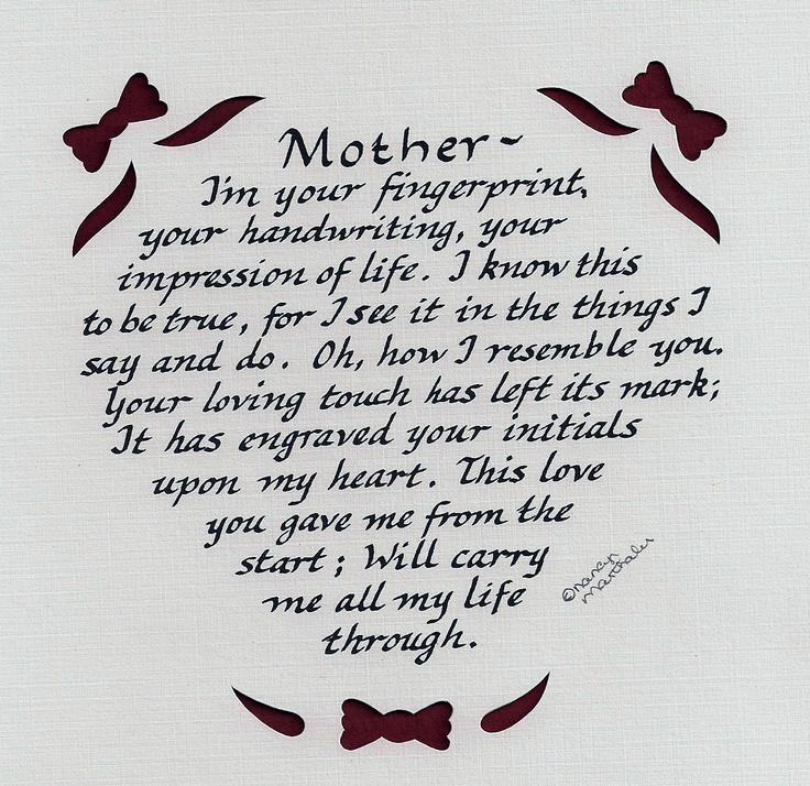 Quot mother nancy marthaler calligraphy original poetry