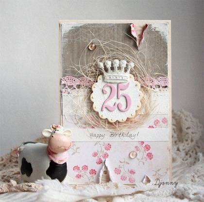 For girl on 25-th birthday