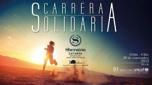 Carrera solidaria en Costa Adeje, Tenerife