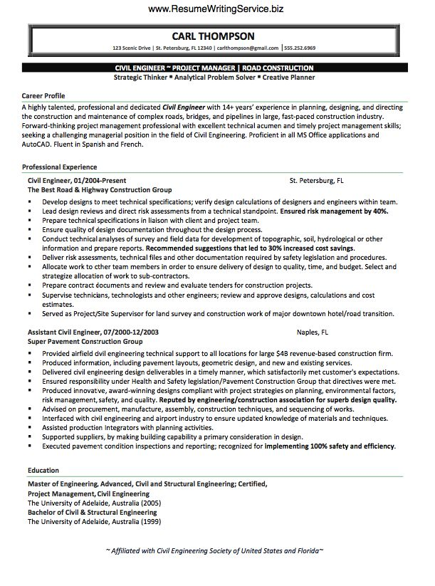 The 25+ best Civil engineering schools ideas on Pinterest Civil - civil engineer resume