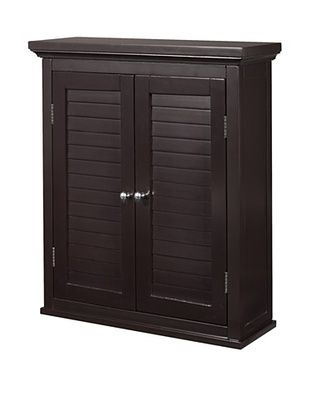 33% OFF Elegant Home Fashions Slone Double Shutter Door Wall Cabinet, Dark Espresso