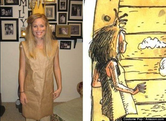Non-Skanky Halloween Costume Ideas- Love the Paper Bag Princess