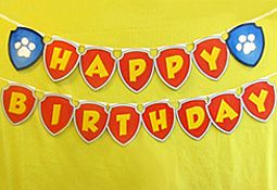 Nick Jr. has tons of free printable paw patrol stuff, including this banner!