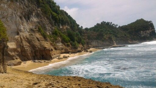 banyu tibo beach, pacitan, east java