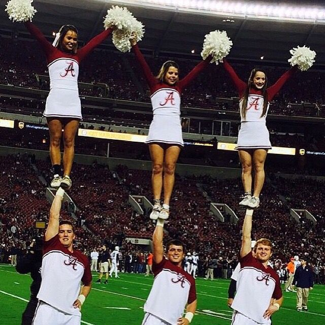 REPIN if you love college cheerleading too!!!!  For tons of stunting tips, check out CheerleadingInfoCenter.com