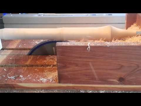 """▶ """"Table Saw jig"""" turns a table saw into a Lathe! - YouTube"""
