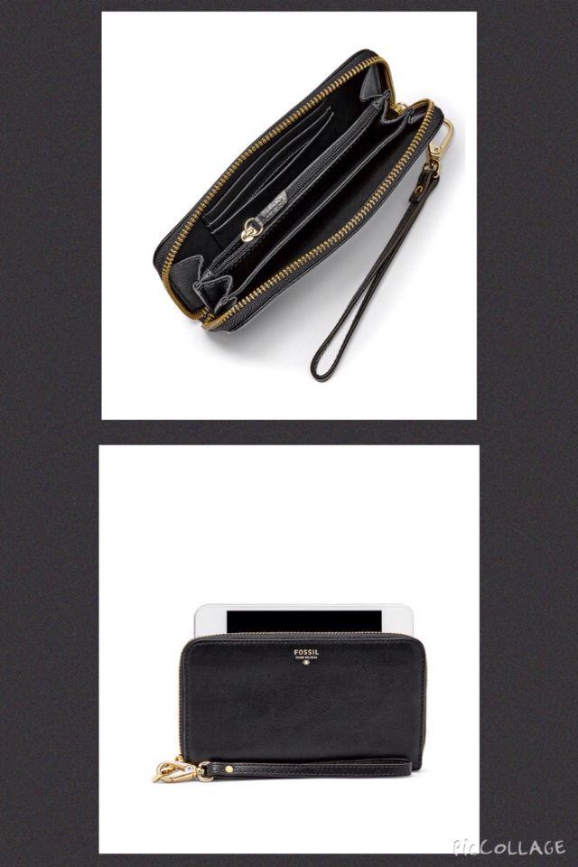 Fossil portafoglio modello Sydney phone nero o color cammello/marrone anche formato compatto